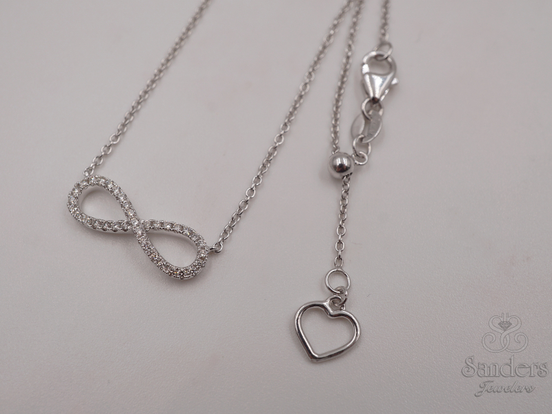 Pendants & Necklaces - Diamond Infinity Pendant - image #3