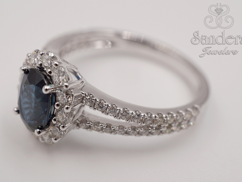 Rings - Sapphire and Diamond Ring - image #2