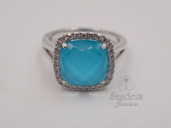Rings - Turquoise and Diamond Fashion Ring