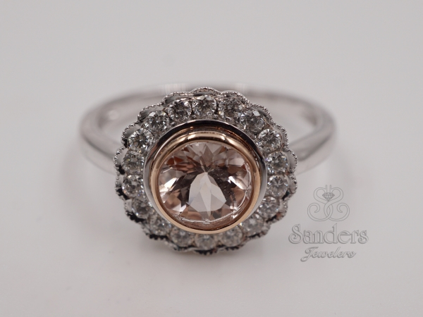 Rings - Morganite and Diamond Fashion Ring