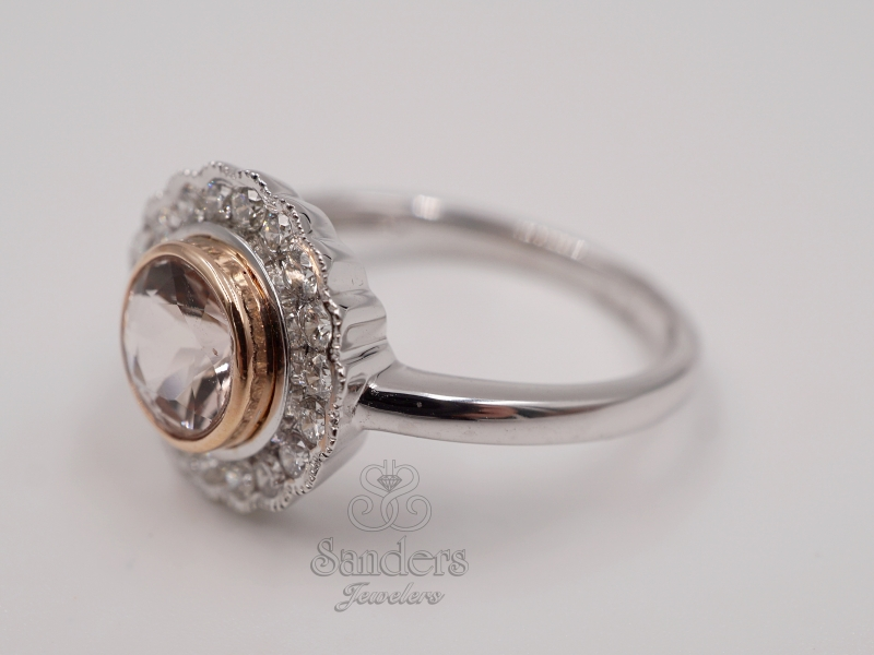 Rings - Morganite and Diamond Fashion Ring - image #2