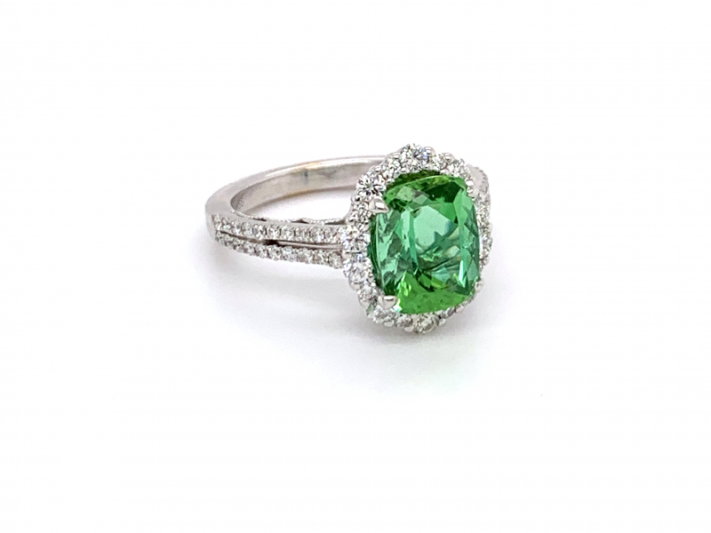 Rings - Tourmaline and Diamond Ring - image #3