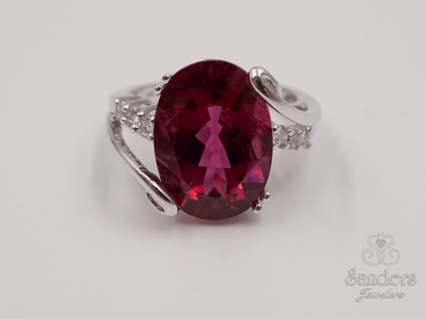 Rings - Rubellite and Diamond Fashion Ring