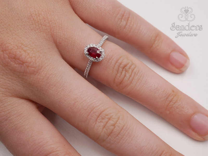 Rings - Ruby and Diamond RIng - image 3