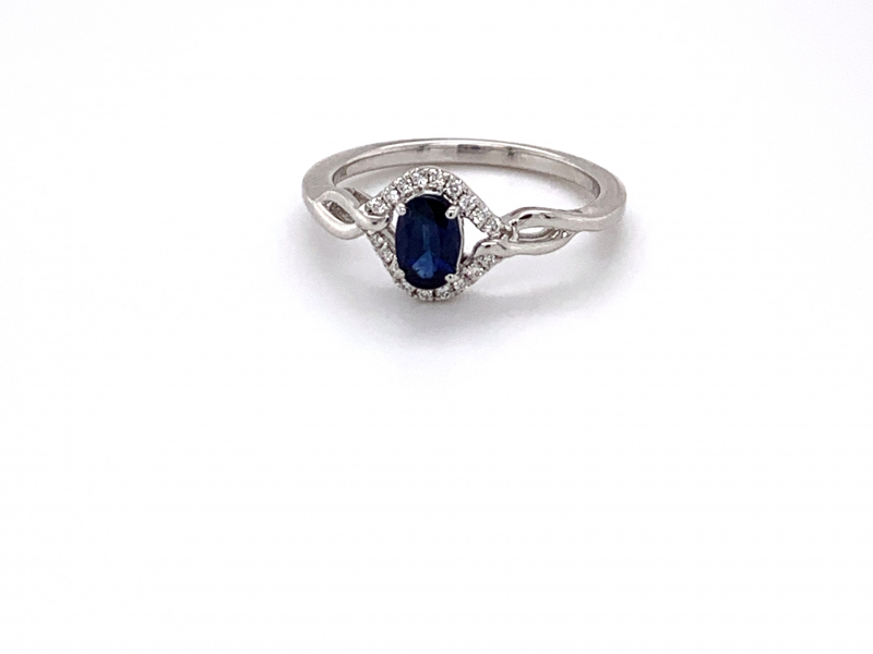 Rings - Sapphire and Diamond Ring