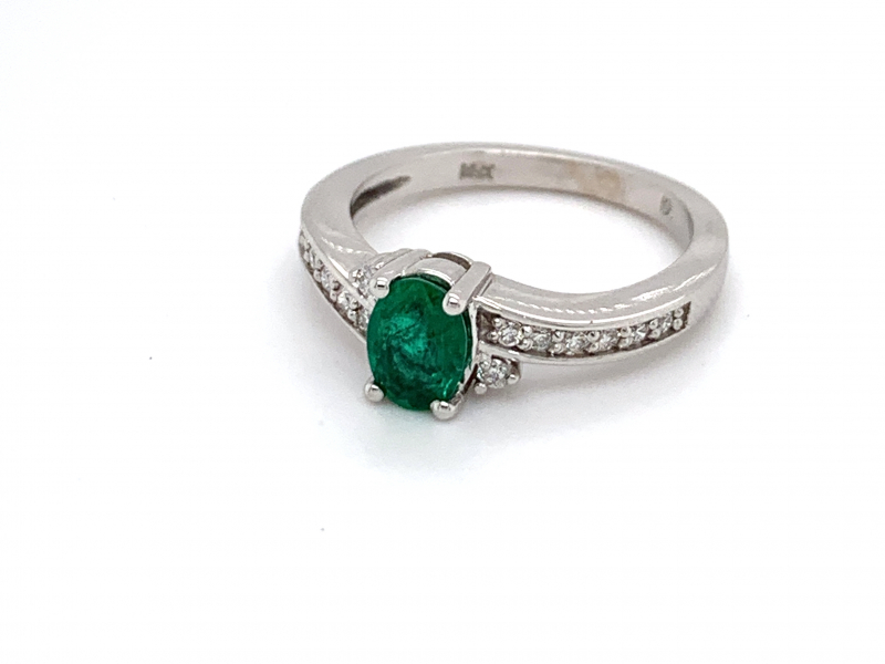 Rings - Emerald and Diamond Ring