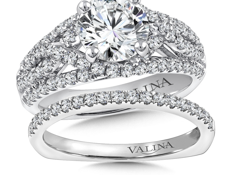 Bridal Jewelry - Criss-Cross  Diamond Engagement Ring - image #2