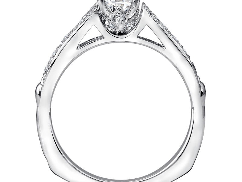 Bridal Jewelry - Vintage Inspired Split Shank Engagement Ring - image #3