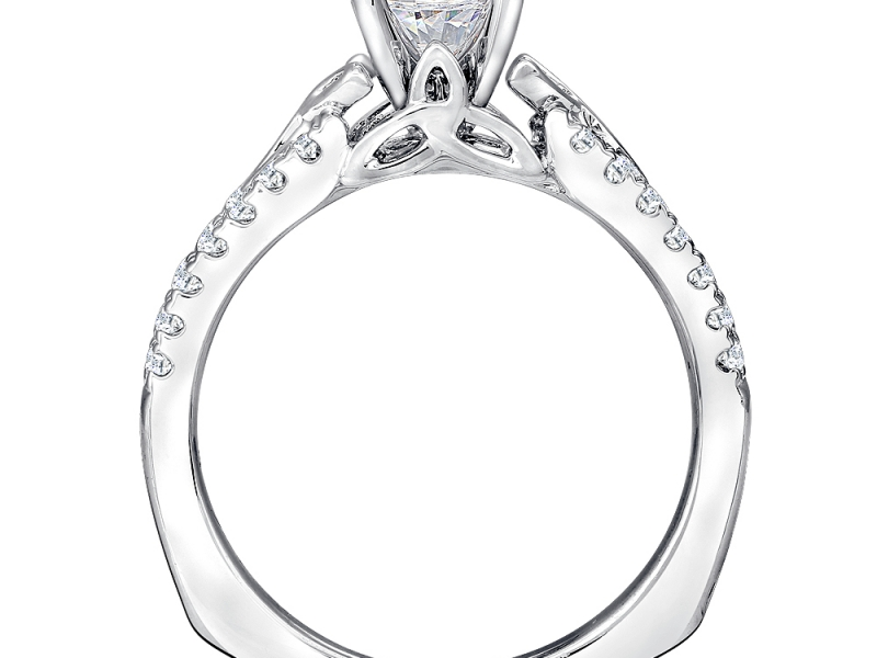 Bridal Jewelry - Celtic Knot Engagement Ring - image #3
