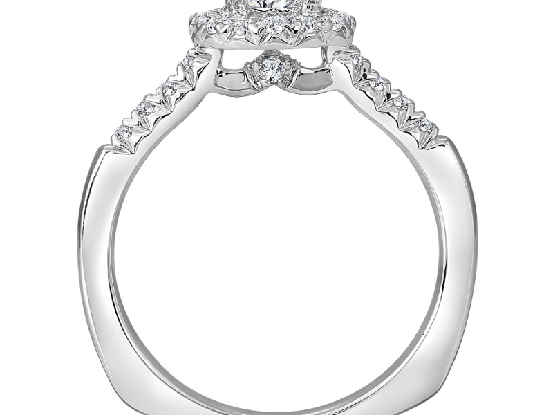 Bridal Jewelry - Round Halo Diamond Engagement Ring - image #5