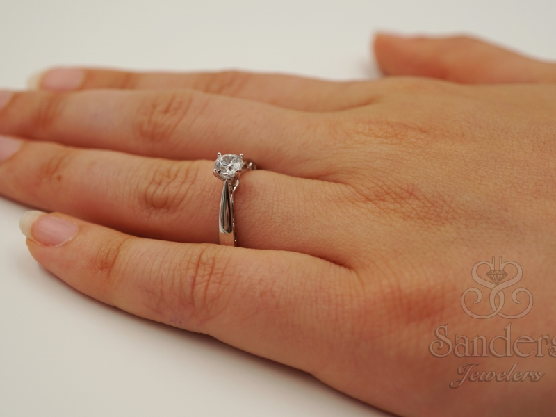 Bridal Jewelry - Filigree Diamond Engagement Ring - image #5