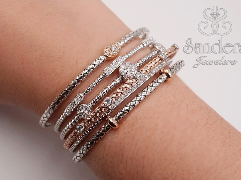 Bracelets - Two-Tone Bangle - image #2