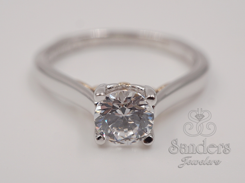 Bridal Jewelry - Two-Tone Solitaire Engagement Ring