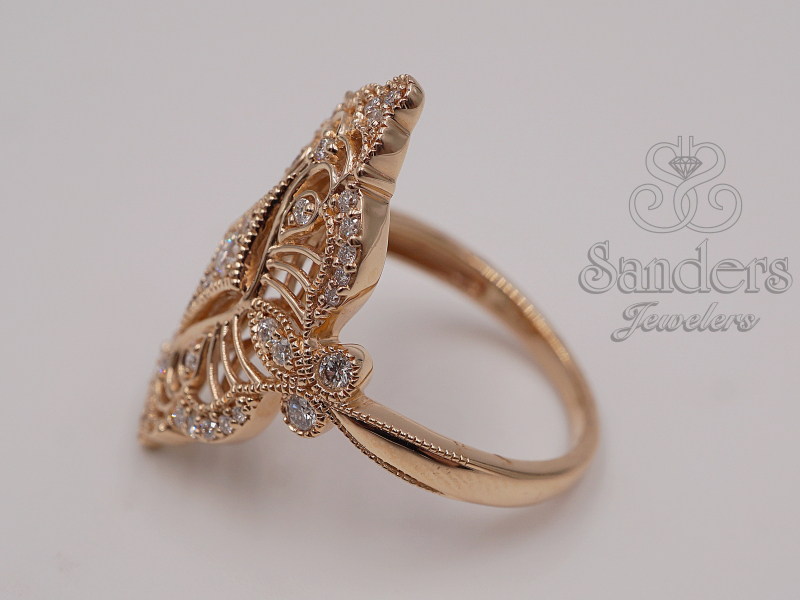 Rings - Rose Gold Cocktail Ring - image #5