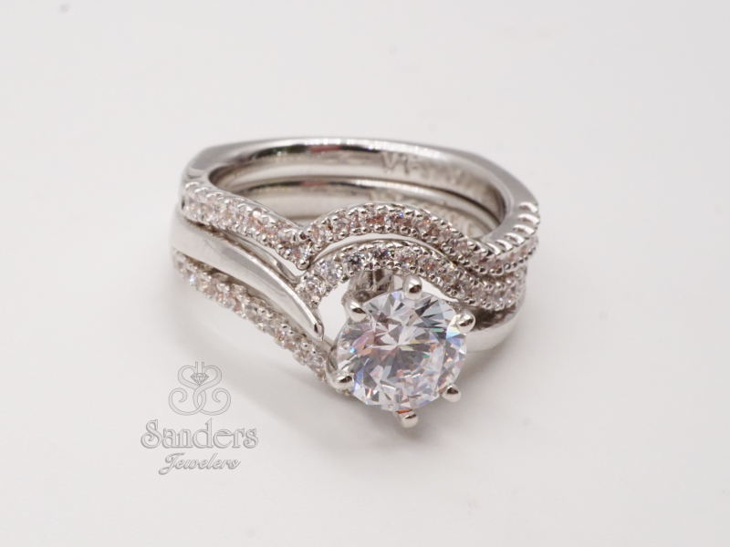 Bridal Jewelry - Contoured Diamond Band - image #4
