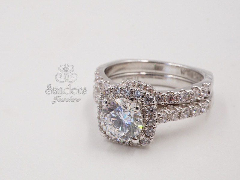 Bridal Jewelry - Contoured Diamond Band - image #3