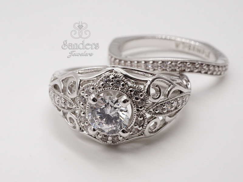 Bridal Jewelry - Curved Wedding Band - image #2