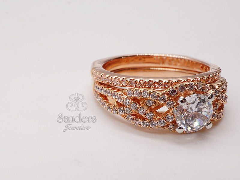 Bridal Jewelry - Straight Diamond Wedding Band - image #2