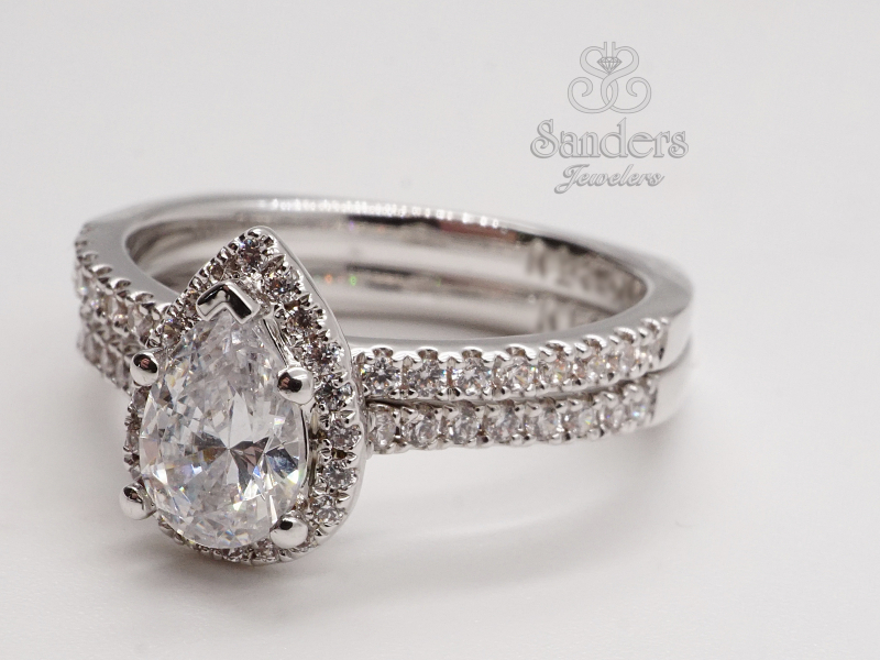 Bridal Jewelry - Subtly Curved Diamond Wedding Band - image #2