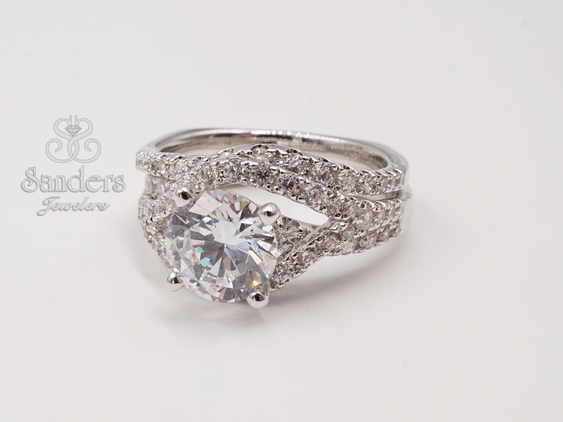 Bridal Jewelry - Curved Diamond Wedding Band - image #2