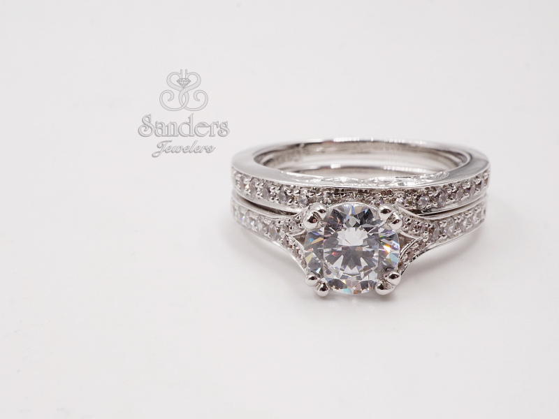 Bridal Jewelry - Split Shank Double Prong Diamond Engagement Ring - image #3
