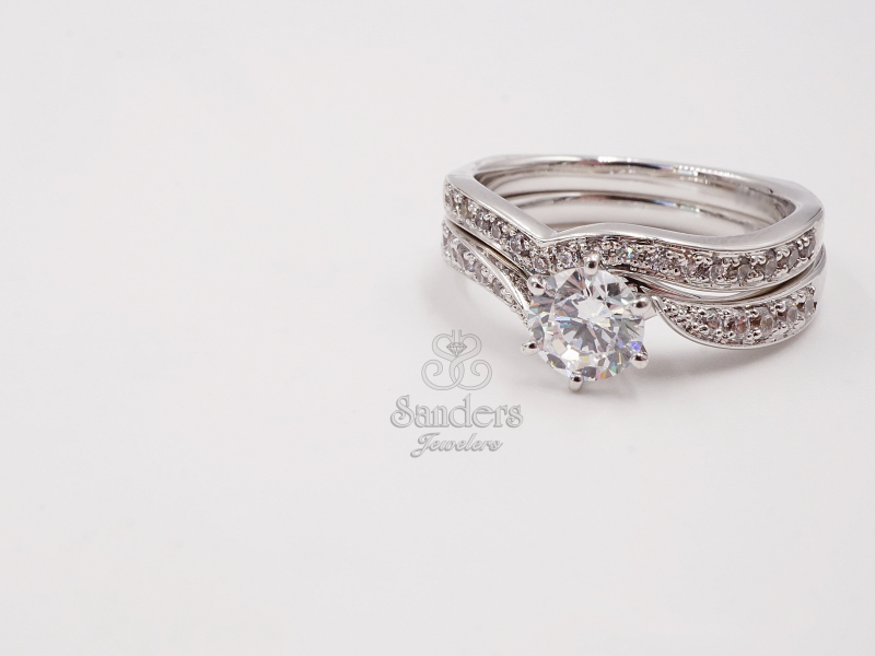 Bridal Jewelry - Diamond Bypass Engagement Ring - image #2