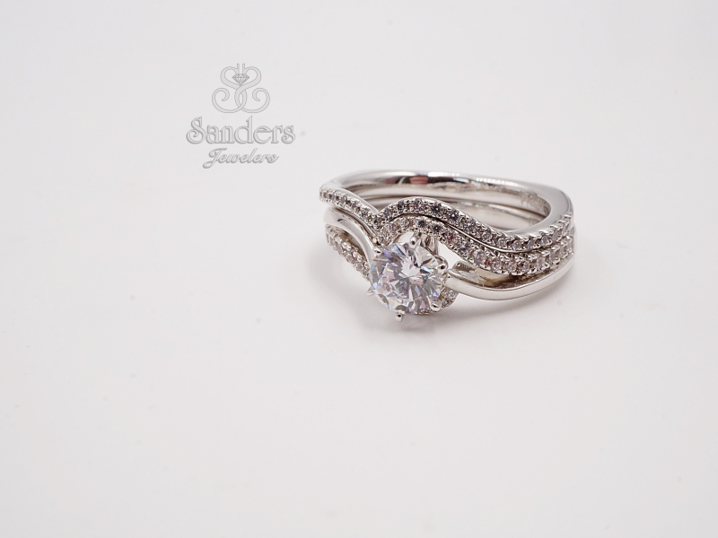 Bridal Jewelry - Twisting Diamond Engagement Ring - image 3