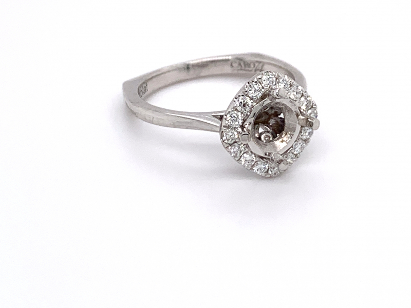 Bridal Jewelry - Sideways Cushion Diamond Engagement Ring  - image #2