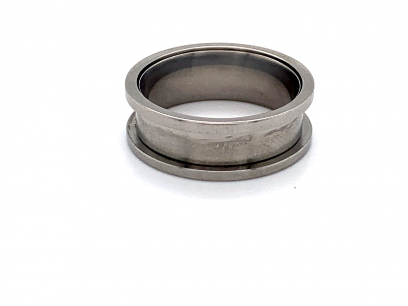 Men's - Zirconium Hammered Ring Insert - image #2