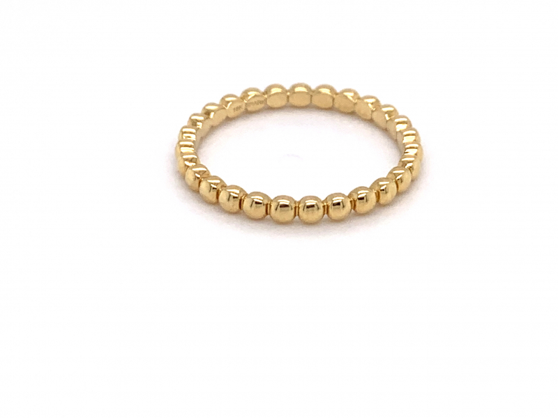Rings - Beaded Gold Band