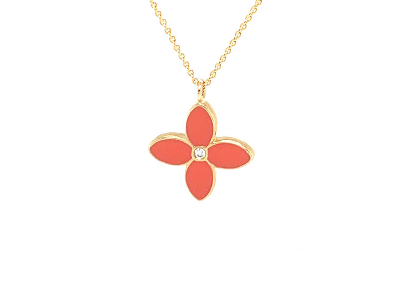 Pendants & Necklaces - Diamond Clover Pendant  - image 2