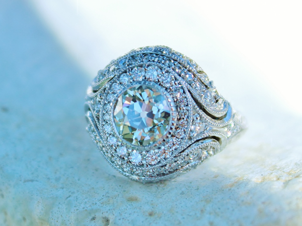 Sanders Jewelers Custom Designs - Vintage Inspired Custom Engagement Ring