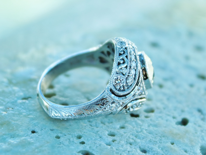 Sanders Jewelers Custom Designs - Vintage Inspired Custom Engagement Ring - image #3