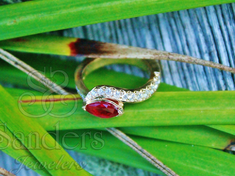 Sanders Jewelers Custom Designs - Custom Ruby and Diamond Ring - image 2