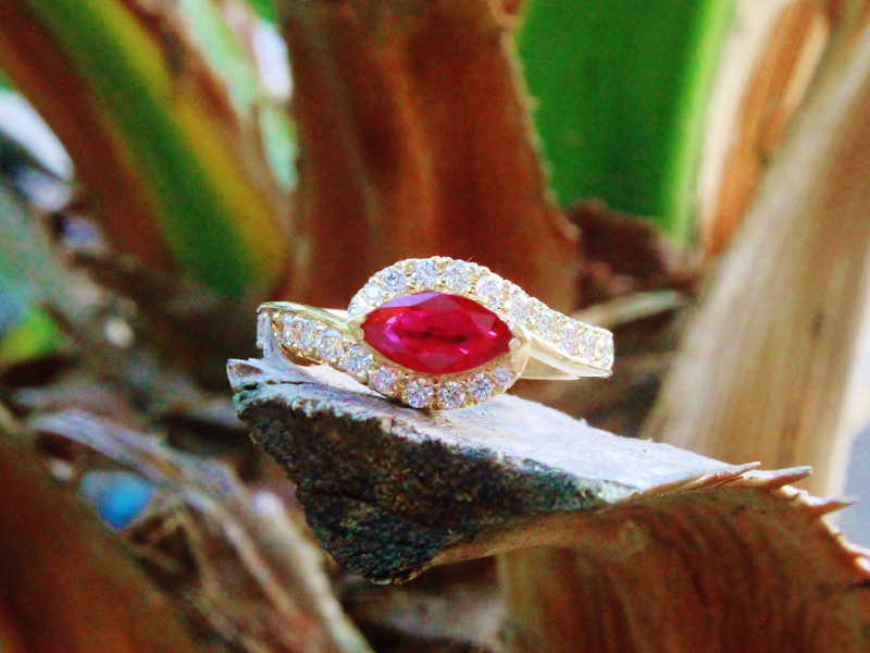 Sanders Jewelers Custom Designs - Custom Ruby and Diamond Ring - image 4