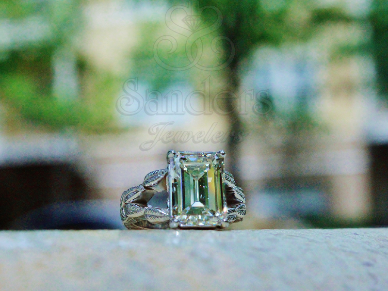 Sanders Jewelers Custom Designs - Leaf Motif Custom Ring