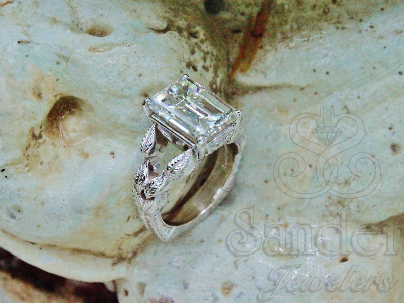Sanders Jewelers Custom Designs - Leaf Motif Custom Ring - image #2