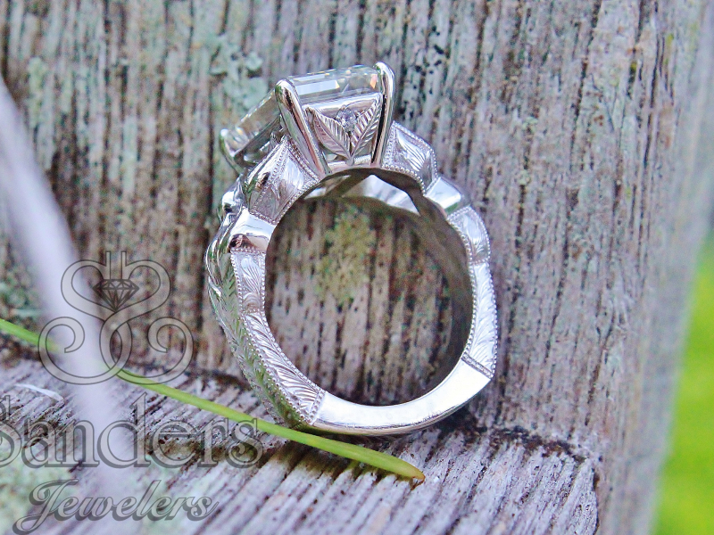 Sanders Jewelers Custom Designs - Leaf Motif Custom Ring - image #3