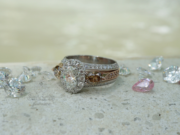 Sanders Jewelers Custom Designs - Two-Tone Custom Anniversary Ring