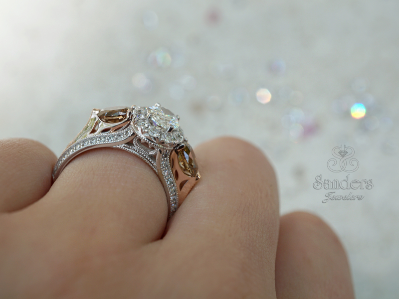Sanders Jewelers Custom Designs - Two-Tone Custom Anniversary Ring - image #5