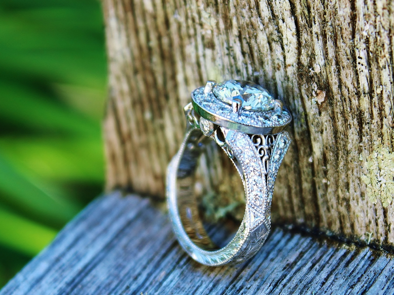 Sanders Jewelers Custom Designs - Vintage Inspired Custom Engagement Ring - image #2