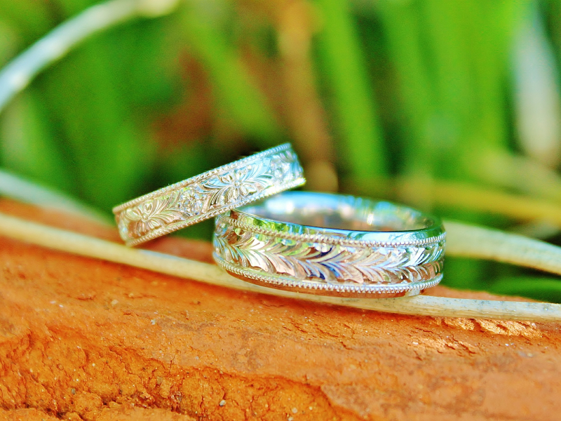 Sanders Jewelers Custom Designs - Custom Matching Wedding Bands - image #2