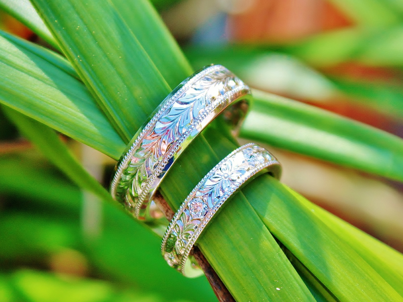 Sanders Jewelers Custom Designs - Custom Matching Wedding Bands - image #3