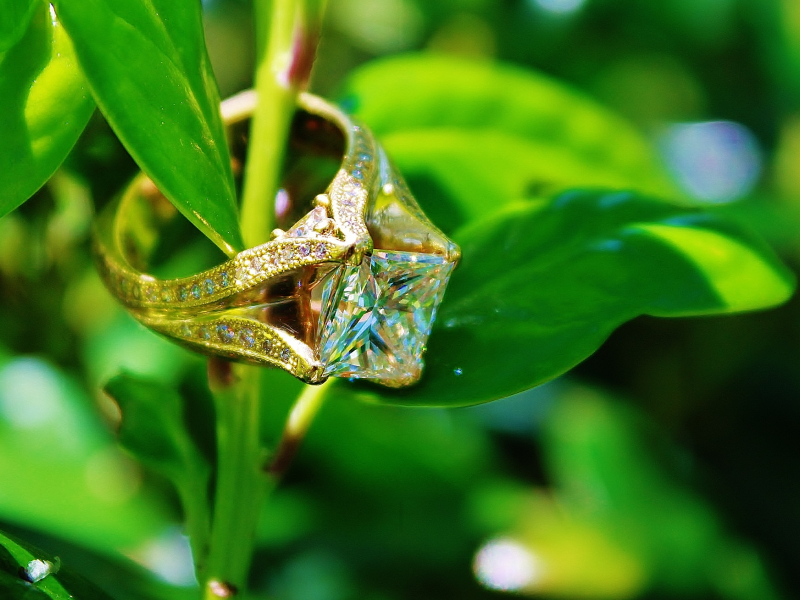 Sanders Jewelers Custom Designs - Custom Princess Cut Wedding Ring - image #3