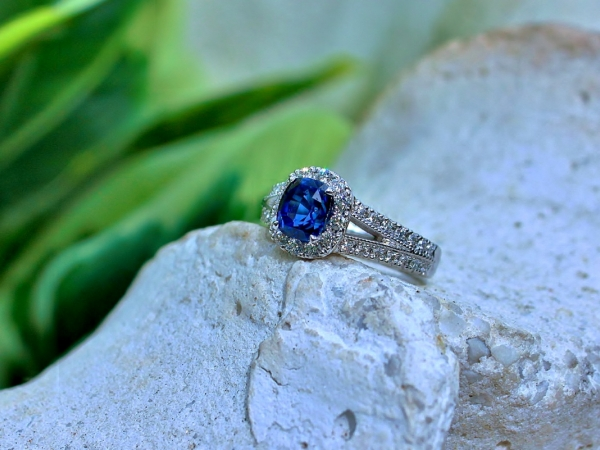Sanders Jewelers Custom Designs - Sapphire Engagement Ring