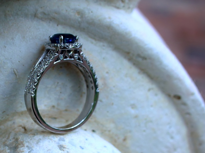 Sanders Jewelers Custom Designs - Sapphire Engagement Ring - image #2