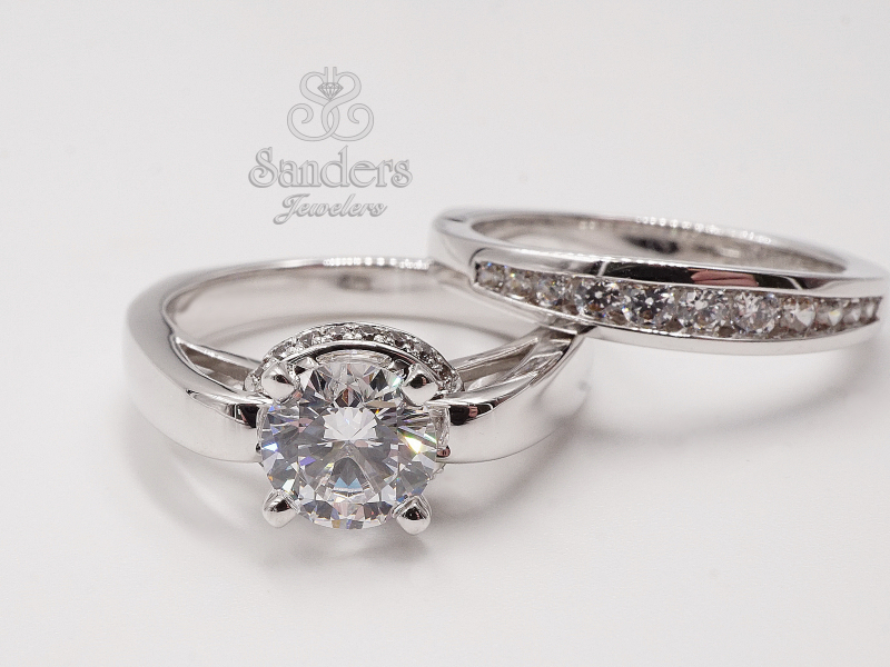 Bridal Jewelry - Solitaire with Gallery Halo - image #2
