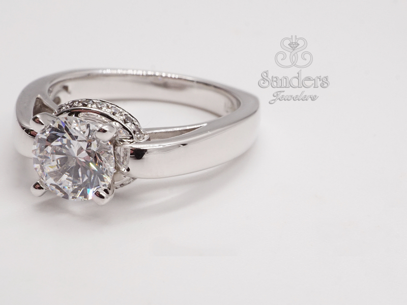 Bridal Jewelry - Solitaire with Gallery Halo