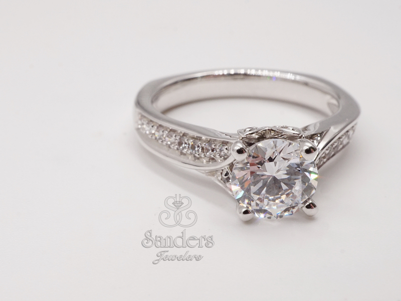Bridal Jewelry - Blooming Diamond Accented Engagement Ring