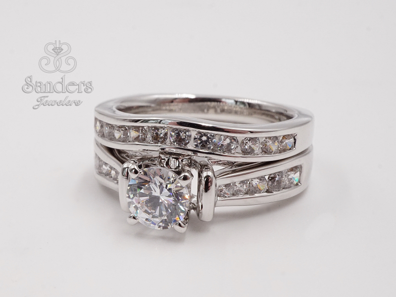 Bridal Jewelry - Tapering Channel Set Engagement Ring - image 2